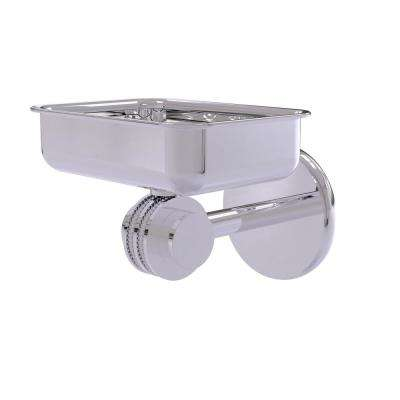 Satellite Orbit 2-Collection Wall Mounted Soap Dish with Dotted Accents in Polished Chrome