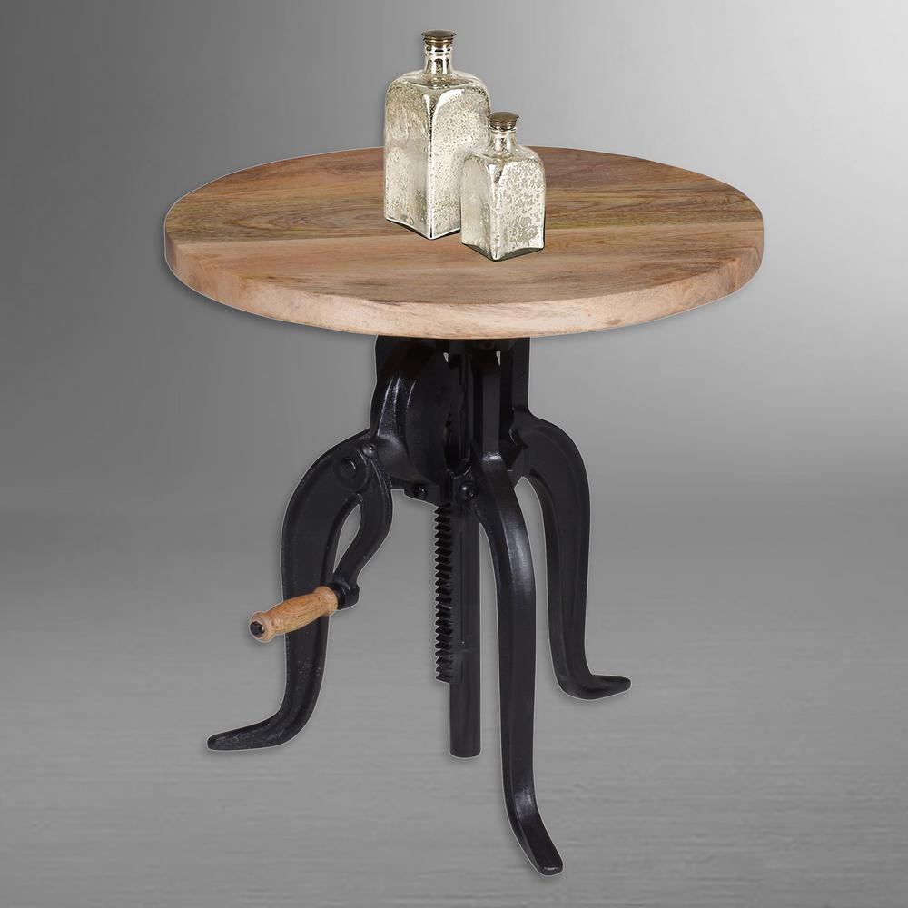 Carolina Cottage Regan Chestnut and Powder Coated Black End Table by Carolina Cottage