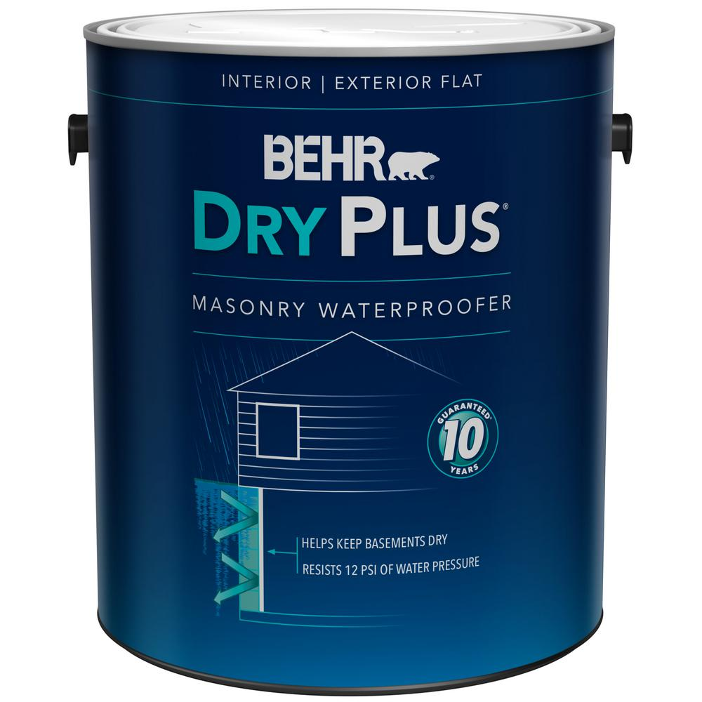 Behr Premium 1 Gal 875 White Basement And Masonry Waterproofer 87501 The Home Depot