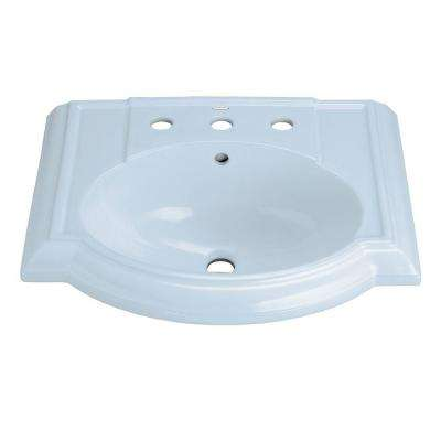 Devonshire 4-7/8 in. Vitreous China Pedestal Sink Basin in White with Overflow Drain