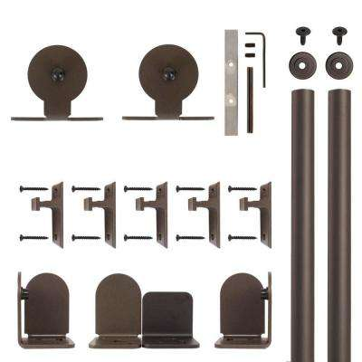 Top Mount Oil Rubbed Bronze Rolling Door Hardware Kit for 3/4 in. to 1-1/2 in. Door