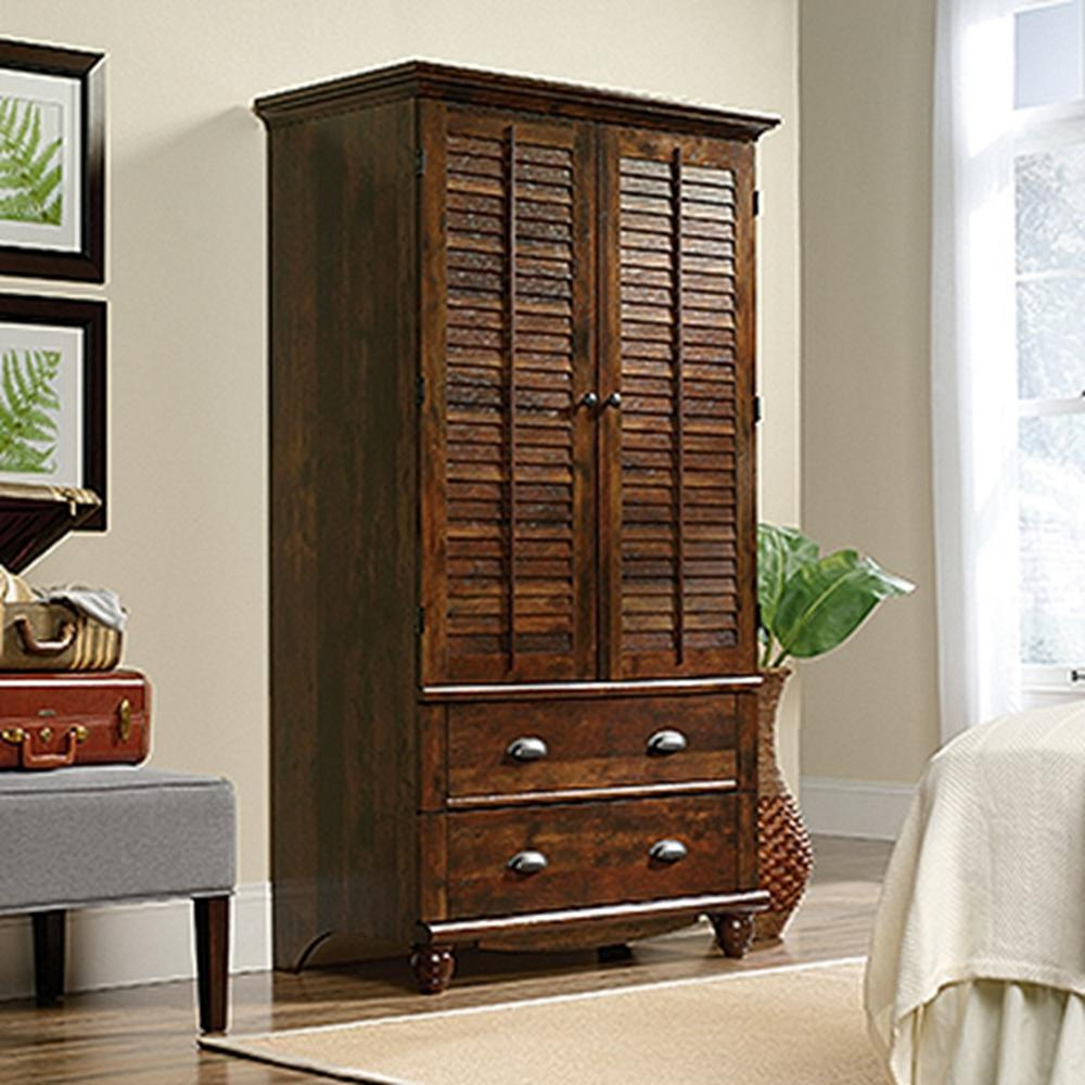 Harbor View Curado Cherry Armoire. SAUDER   Armoires   Wardrobes   Bedroom Furniture   The Home Depot