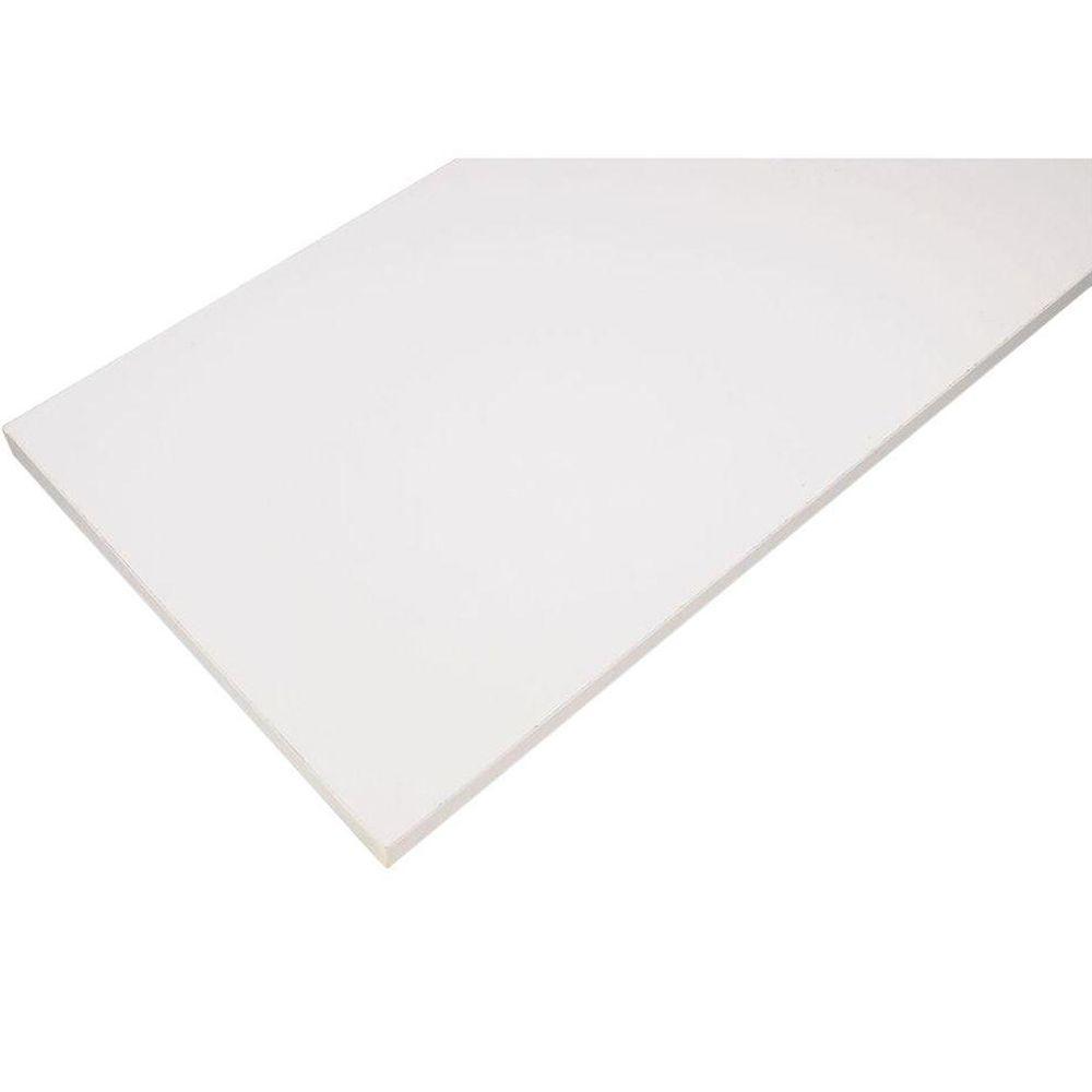 White Laminated Wood Shelf 10 in. D x 48 in. L