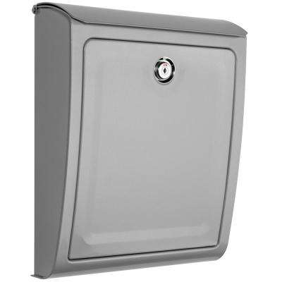 Sienna Silver Locking Wall Mount Mailbox