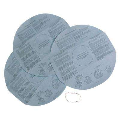 Disposable Dry Filter with Retainer Band for Select Genie and Shop-Vac Wet/Dry Vacuums (3-Pack)