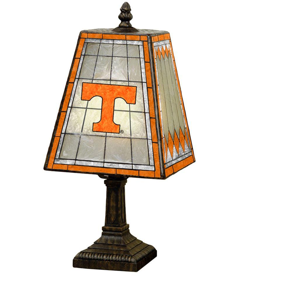 The Memory Company NCAA 14 in. Tennessee Volunteers Art Glass Table Lamp