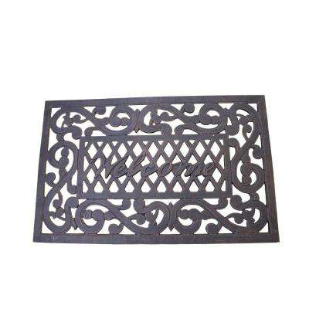 Welcome Cast Aluminum Doormat in Bronze