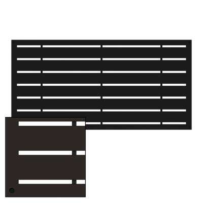 4 ft. x 2 ft. Boardwalk Black Polymer Decorative Screen Panel
