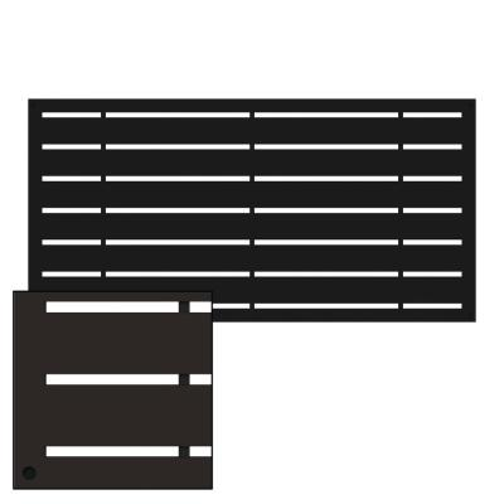 2 ft. x 4 ft. Boardwalk Black Vinyl Decorative Screen Panel