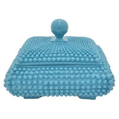 7 in. Covered Box Blue Blue