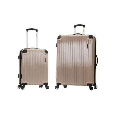 Rockland Expandable Santorini 2-Piece Hardside Spinner Luggage Set, Beige