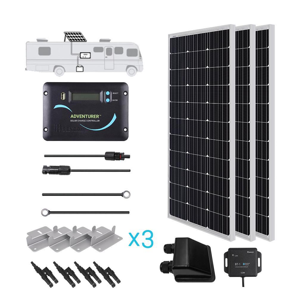 300-Watt 12-Volt Monocrystalline Solar RV Kit for Off-Grid Solar System