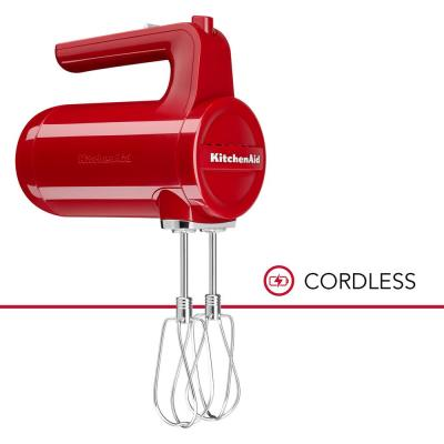 Cordless 7-Speed Empire Red Hand Mixer