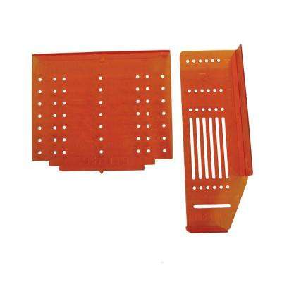 Cabinet Hardware Door and Drawer Drilling Template - Value Pack