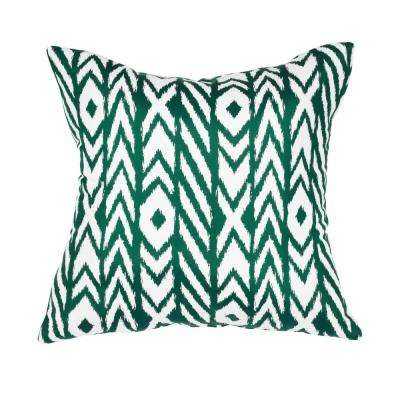 Fire Island Jade Square Accent Lounge Throw Pillow