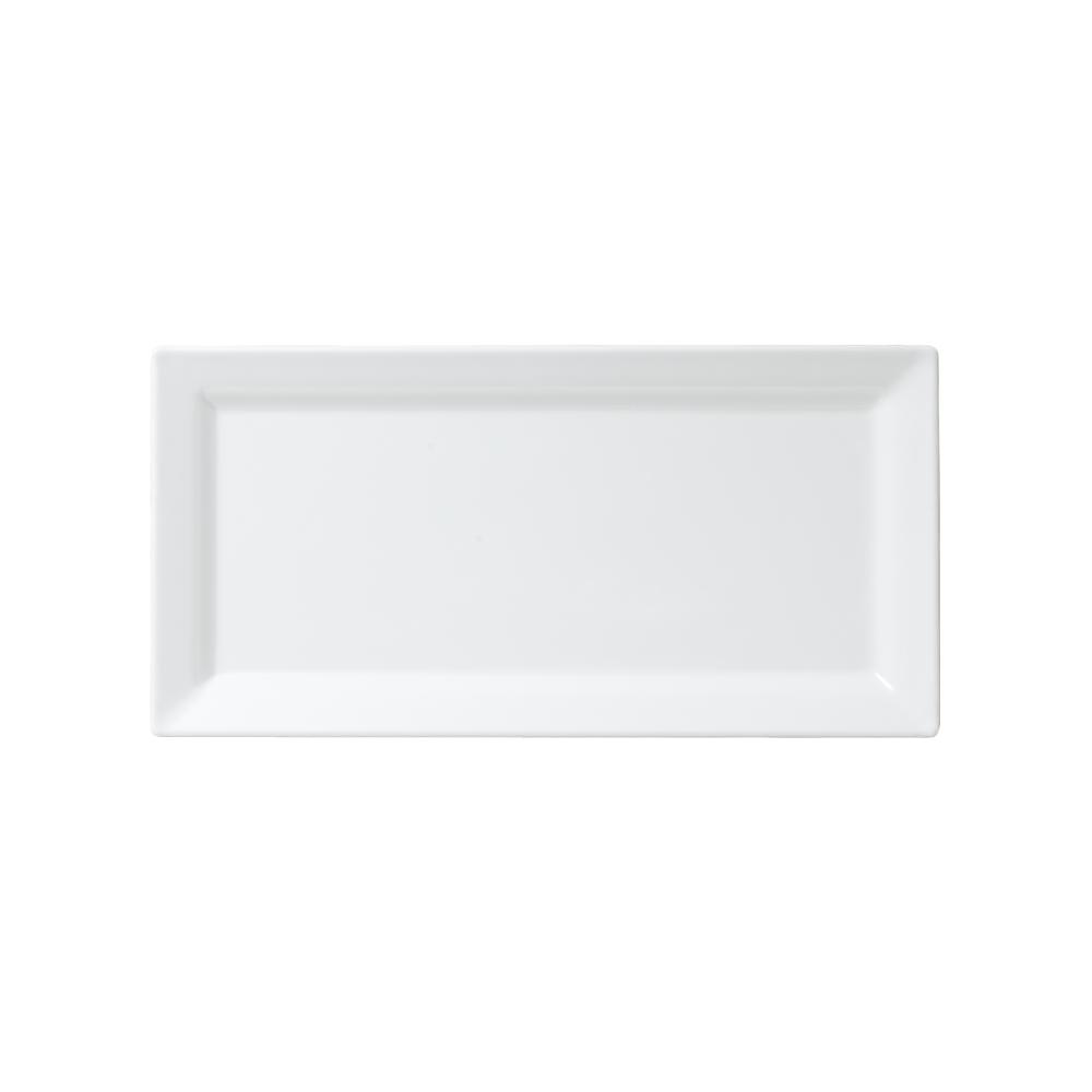 Diamond 14 in. x 7 in. Melamine Rectangle Serving Platter in