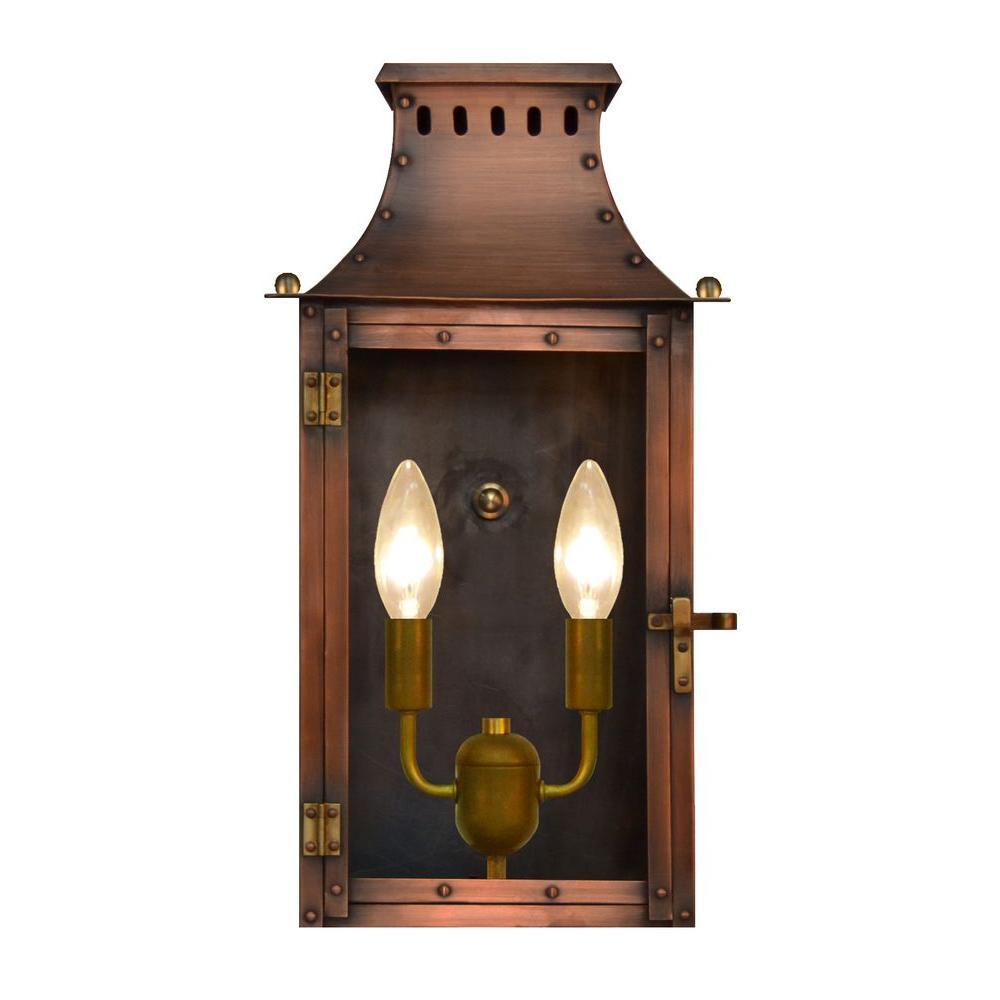 Filament Design Burkley 2-Light Copper Outdoor Wall Lantern