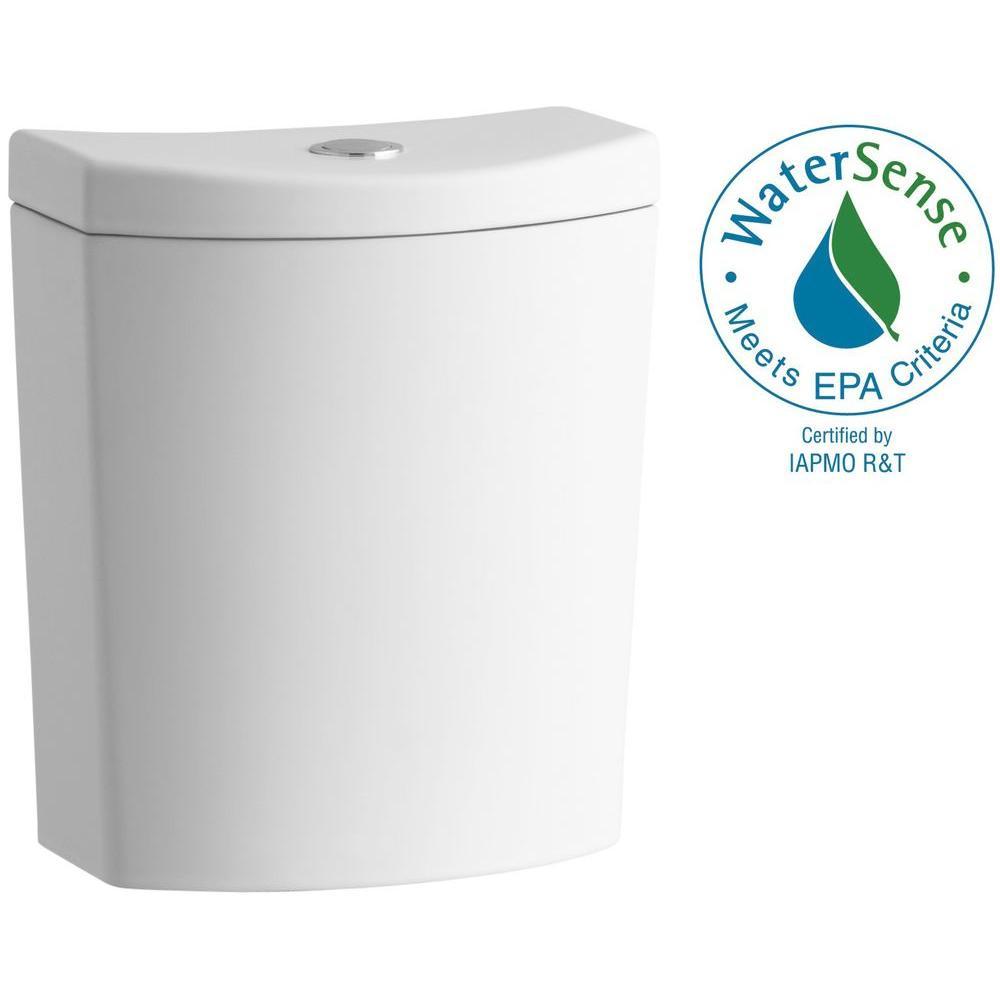 KOHLER Persuade Dual Flush Toilet Tank Only in Honed White