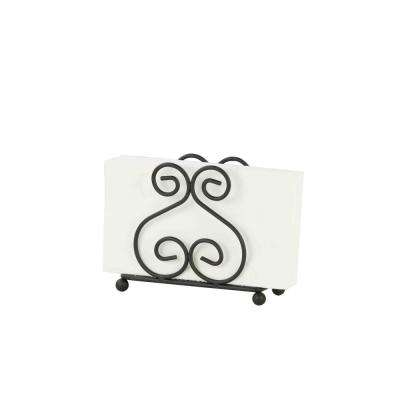 6 in. x 4.5 in. x 1.75 in. Black Napkin Holder