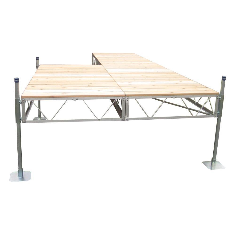 40 ft. Patio Dock with Cedar Decking