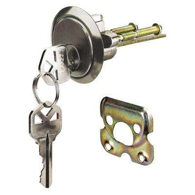 Satin Nickel Kwikset Rim Cylinder