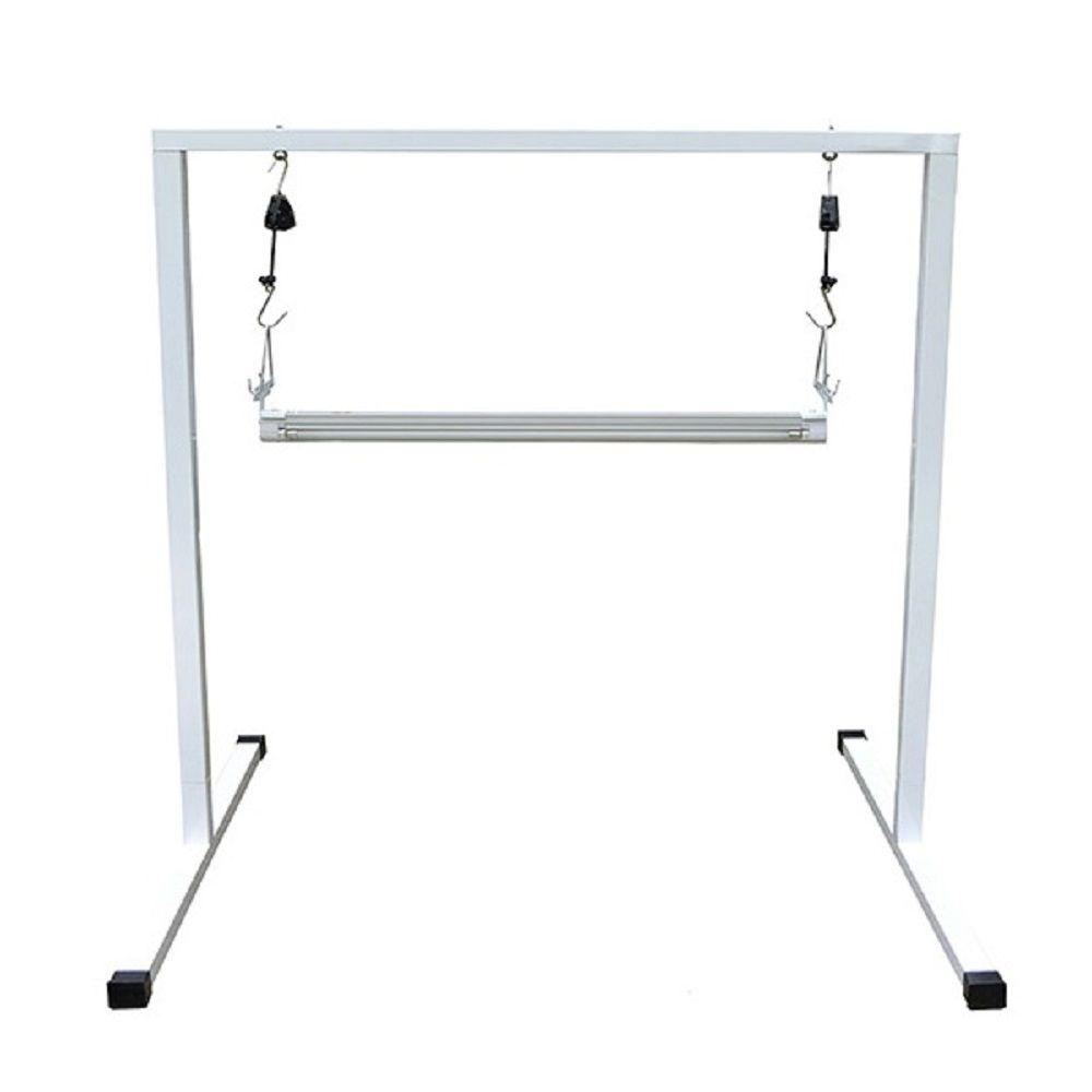 ViaVolt T5 4 ft. Steel White Powder Coated Light Stand ( 57.5 in. x ...