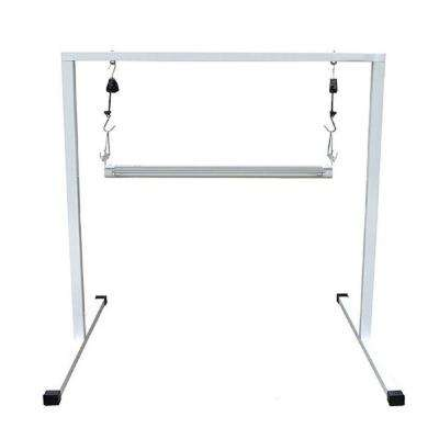 T5 2 ft. Steel White Powder Coated Light Stand with V21 Fluorescent Grow Light Fixture