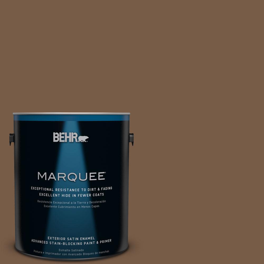 1-gal. #N250-7 Mission Brown Satin Enamel Exterior Paint