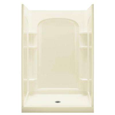 Ensemble 35-1/4 in. x 48 in. x 77 in. Curve Shower Kit in Biscuit
