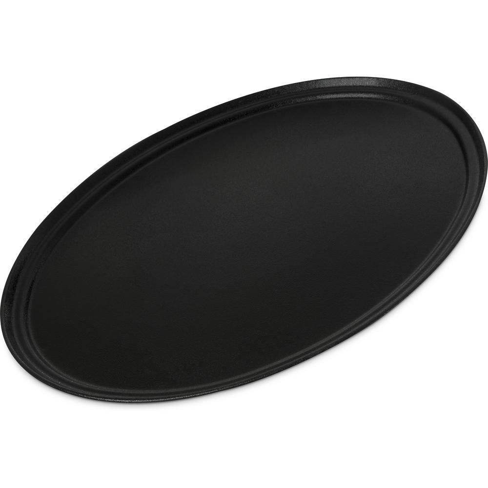 Griptite2 31 in. x 24 in. x 1 in. Black Fiberglass/Steel Oval Serving Tray (6-Pack)