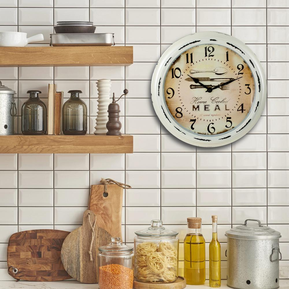 antique look kitchen wall clock - Kitchen Wall Clocks