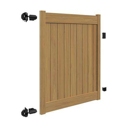Linden 5 ft. W x 6 ft. H Cypress Vinyl Un-Assembled Fence Gate
