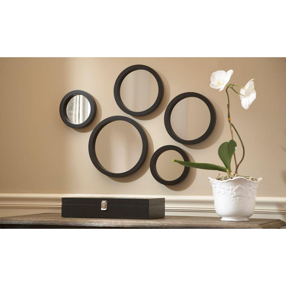 Martha Living Seneca 5 Piece Framed Mirror Set