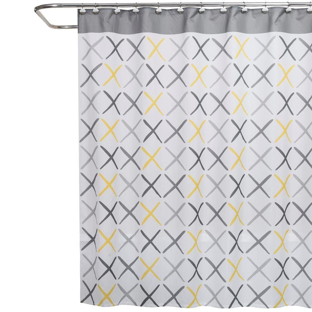 Saturday Knight Gen X 70 In W X 72 In L Fabric Shower Curtain