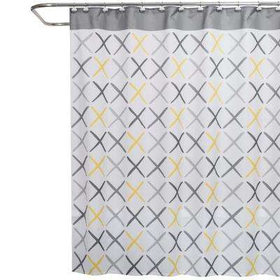 L Fabric Shower Curtain