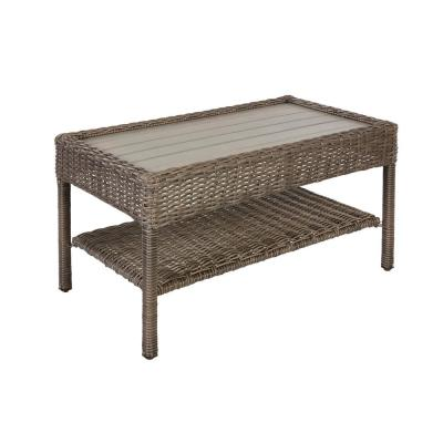 Cambridge Gray Wicker Outdoor Coffee Table