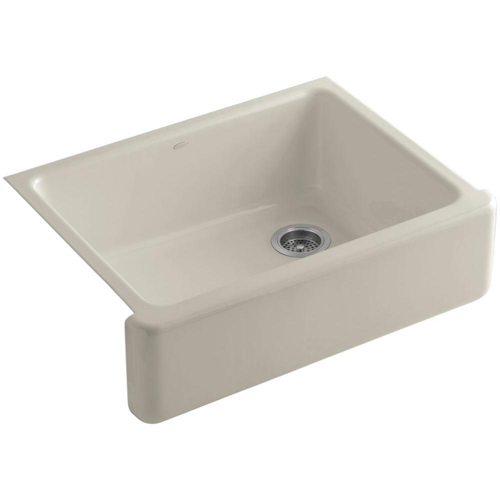 Whitehaven Farmhouse Apron-Front Cast Iron 30 in. Single Basin Kitchen Sink in Sandbar