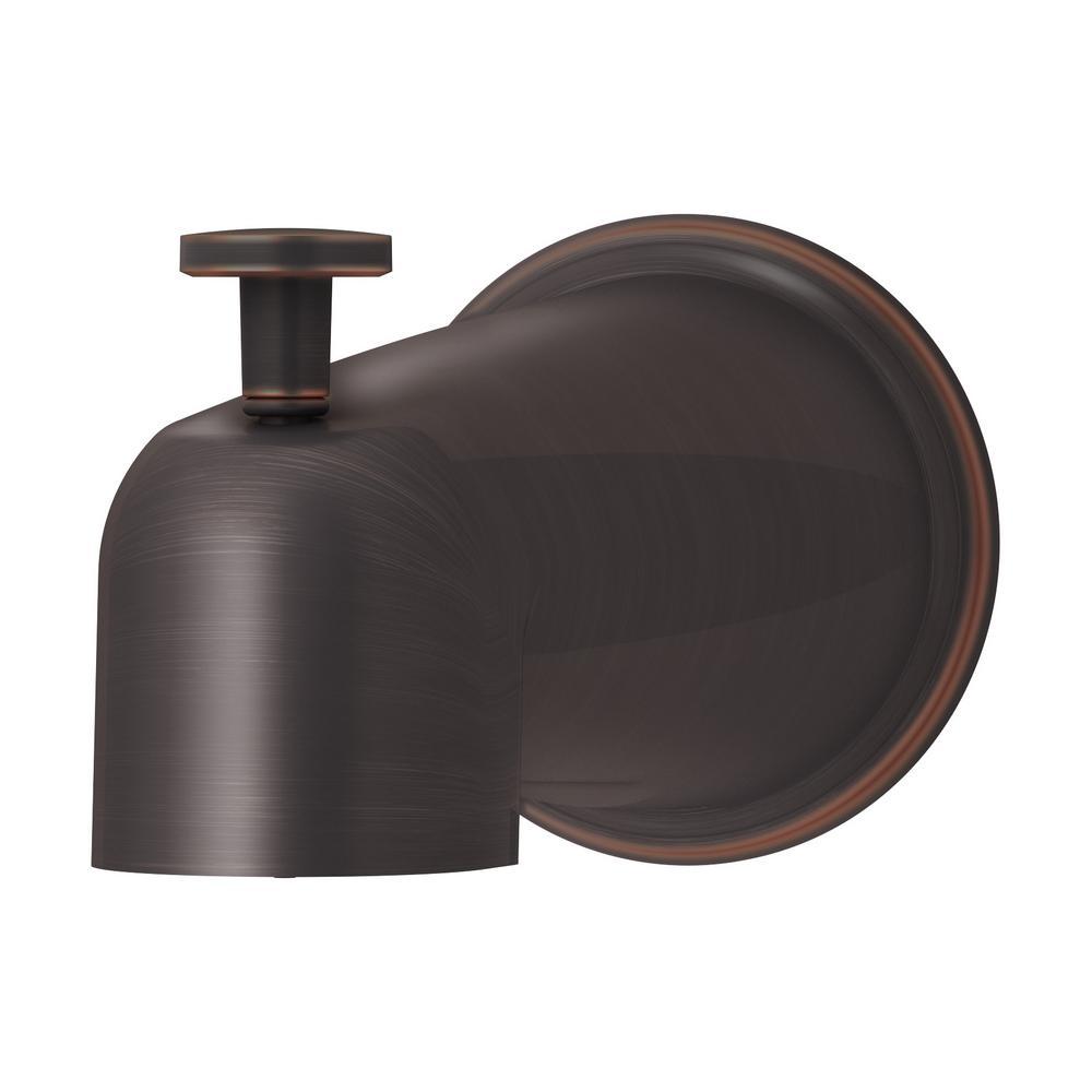 Elm 5-7/8 in. Diverter Tub Spout in Seasoned Bronze