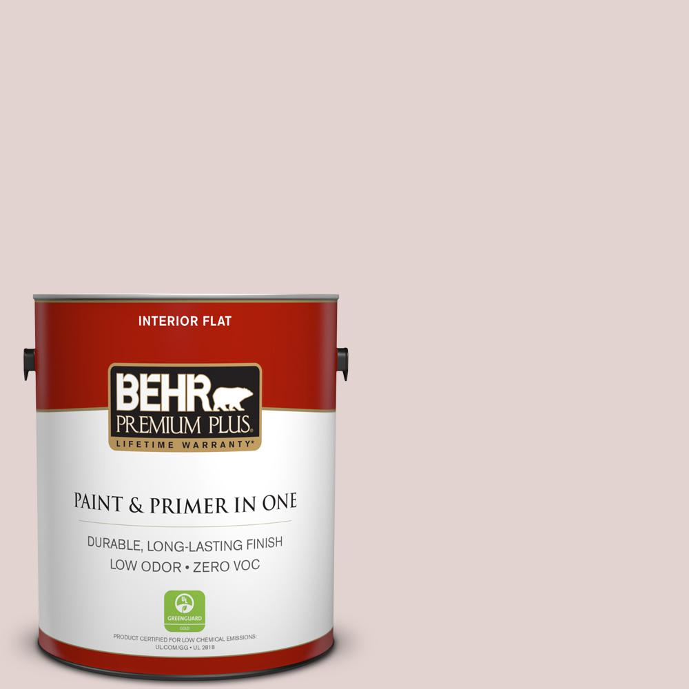 BEHR Premium Plus 1-gal. #180E-2 Sugar Berry Zero VOC Flat Interior Paint