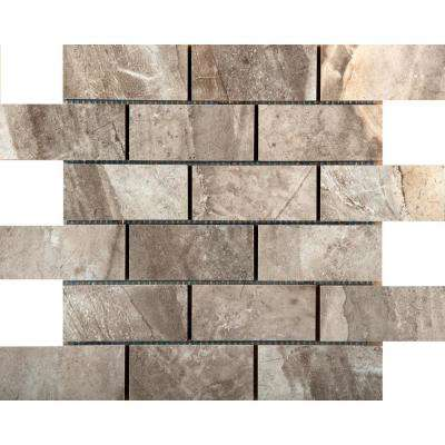 Eurasia Grigio 13.07 in. x 13.07 in. x 10mm Porcelain Mesh-Mounted Mosaic Tile (1.12 sq. ft.)