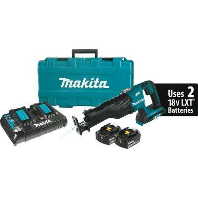 18-Volt X2 (36V) 5.0Ah LXT Lithium-Ion Cordless Reciprocating Saw Kit with (2) Batteries 5.0 Ah, Charger, and Hard Case