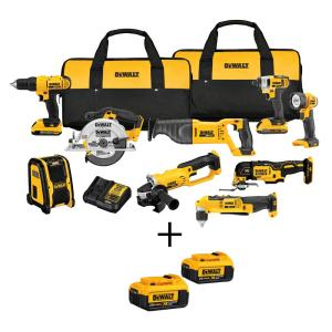 Dewalt 20-Volt MAX XR Lithium-Ion Cordless Combo Kit (9-Tool) with Bonus Battery 2-Pack by DEWALT
