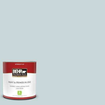 1 qt. #PPU13-16 Offshore Mist Flat Low Odor Interior Paint and Primer in One