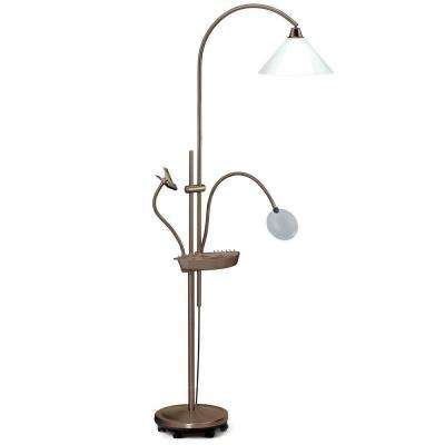 65 in. Black Antique Ultimate Floor Lamp