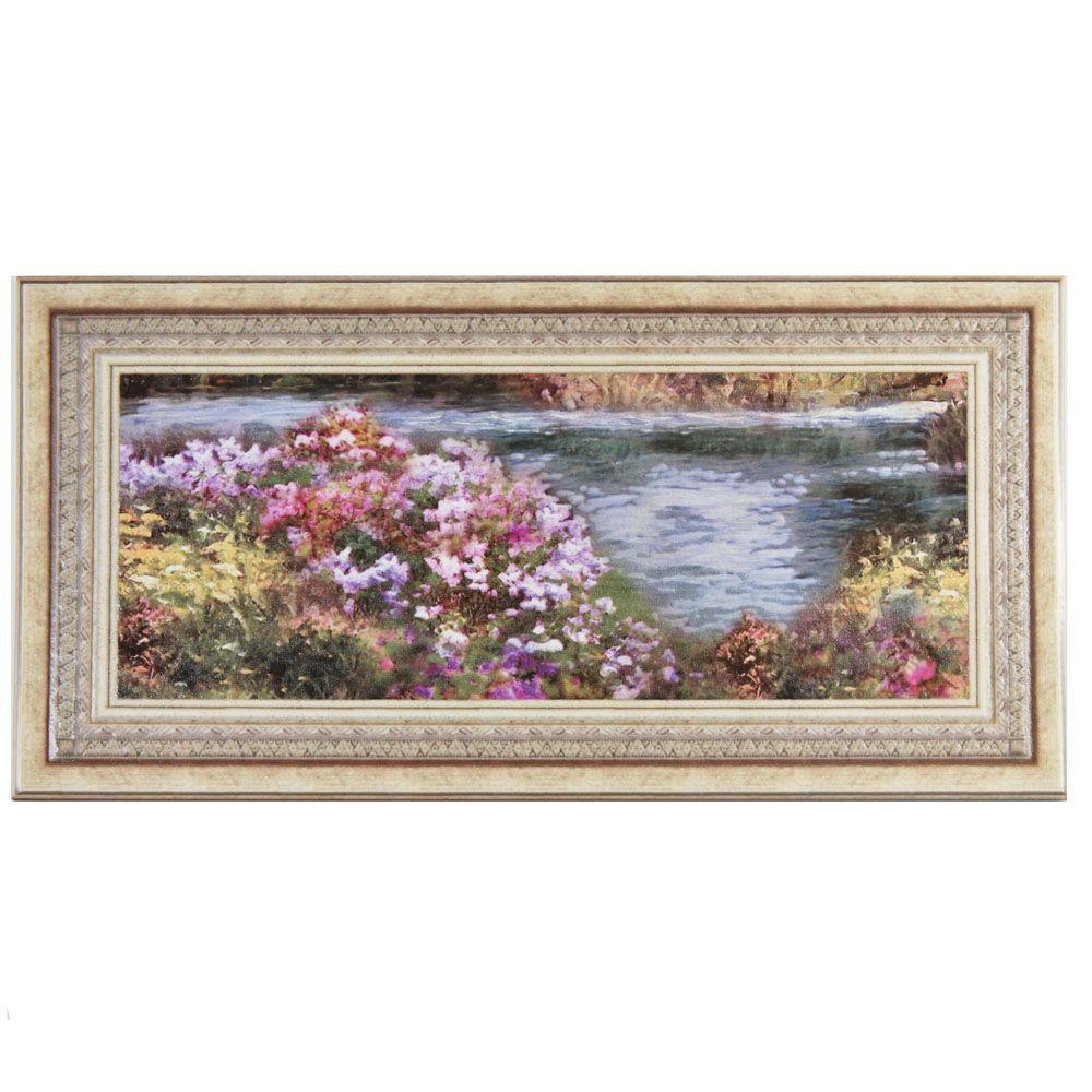Merola tile twenties frame 7 34 in x 7 34 in ceramic floor and heyda bone decor 9 78 in x 19 58 dailygadgetfo Image collections