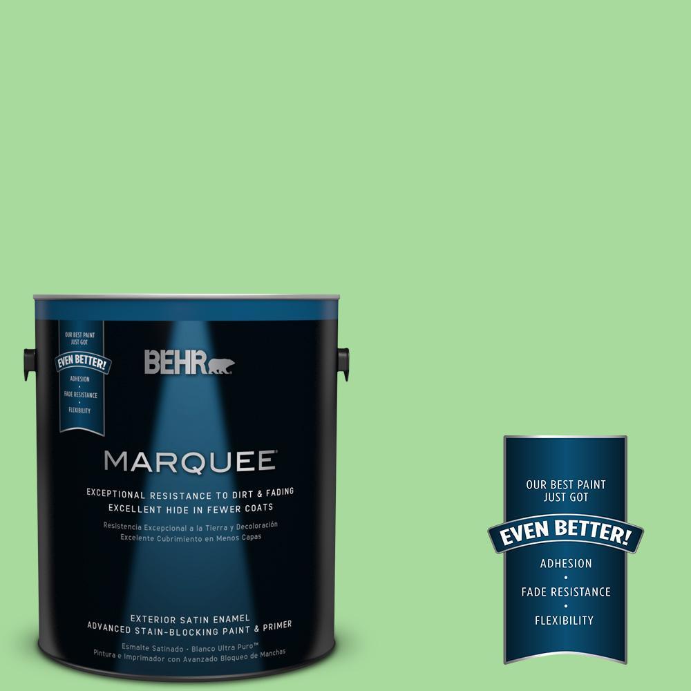 BEHR MARQUEE 1-gal. #440B-4 Cool Aloe Satin Enamel Exterior Paint