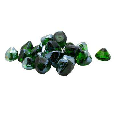 3 lbs. Green Diamonds Decorative Glass