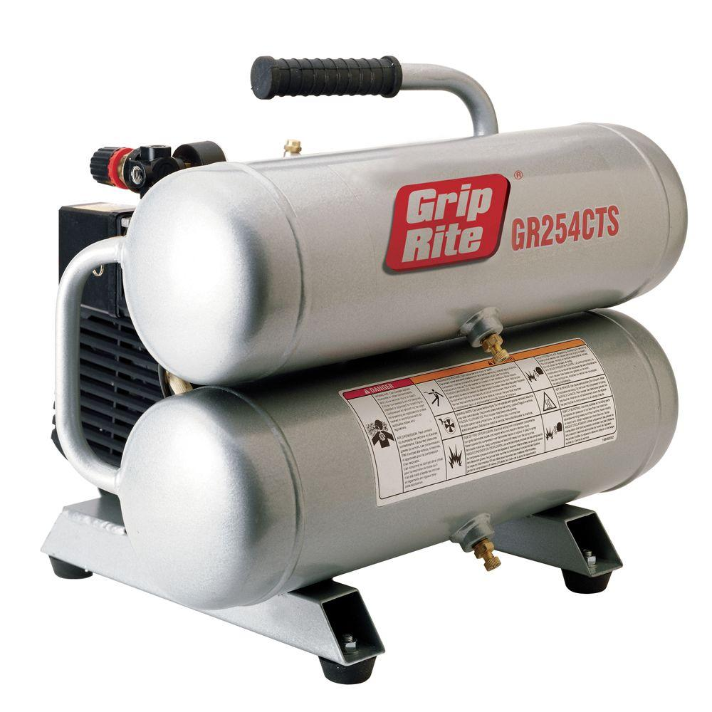 4.3 gal. Portable Twin Stack Electric Air Compressor