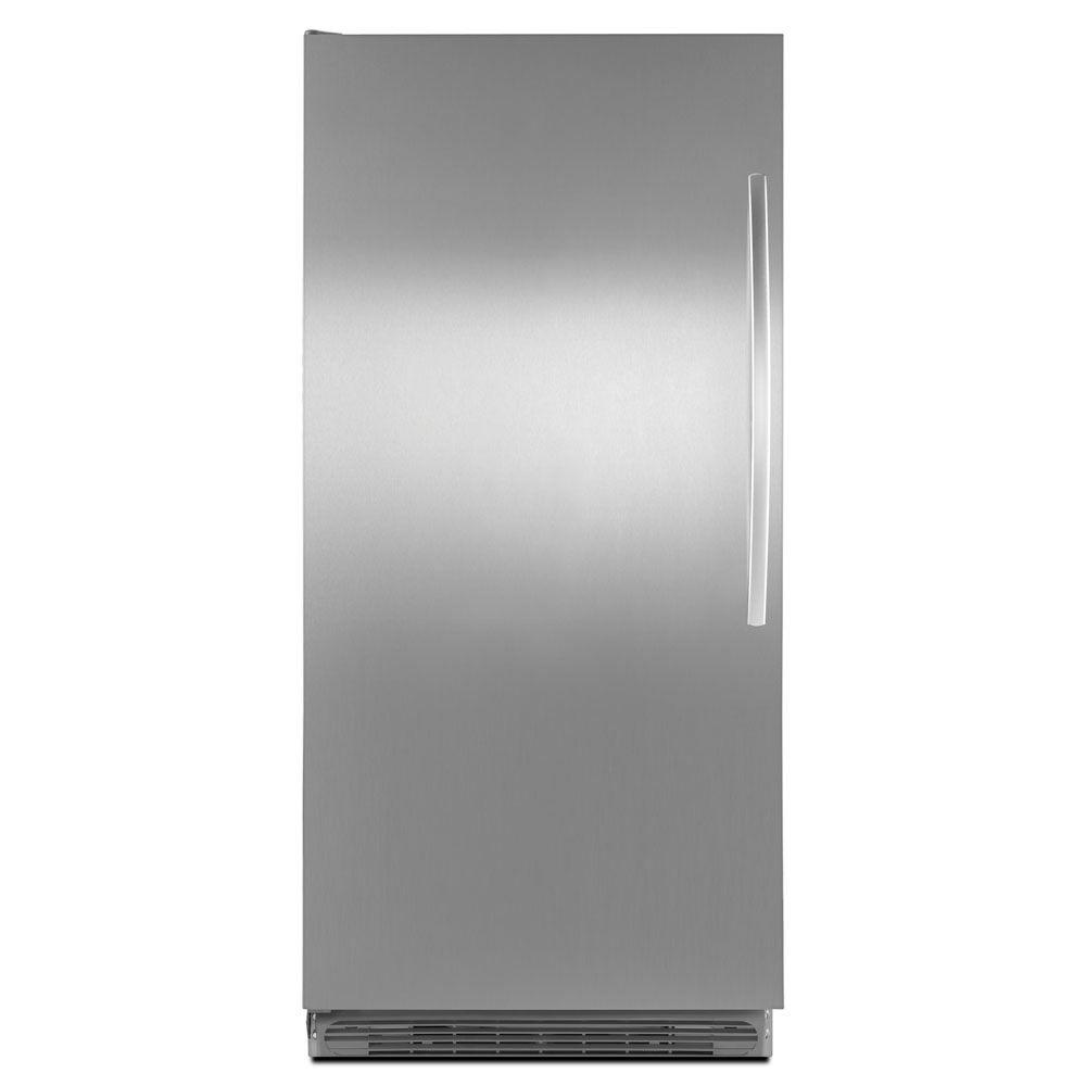Whirlpool Sidekicks 17.7 cu. ft. Frost Free Upright Freezer in Stainless Steel