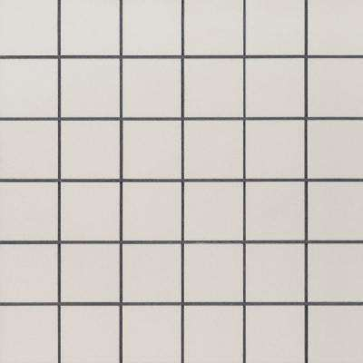 White 12 in. x 12 in. x 10 mm Polished Porcelain Mesh-Mounted Mosaic Tile (8 sq. ft./case)
